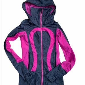 Lululemon In Stride hoodie pink & gray - Size 2